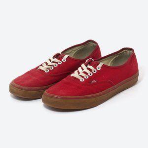 Vans Suede Authentic Red Gum Sole Mens 9